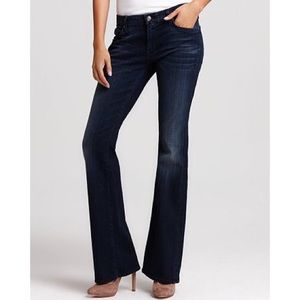 "7 For All Mankind ""A Pocket"" Bootcut JeansCrystals"